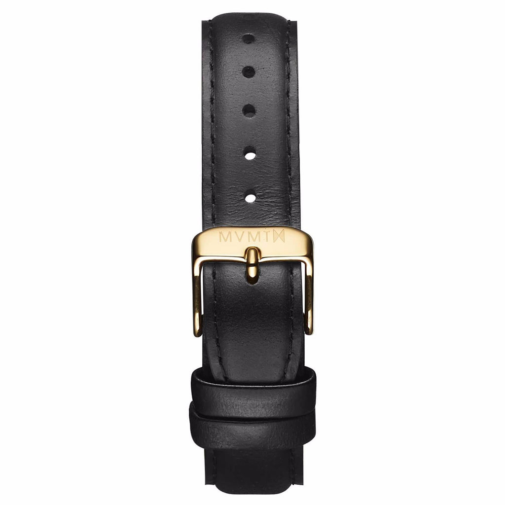 Womens - 18mm Black Leather