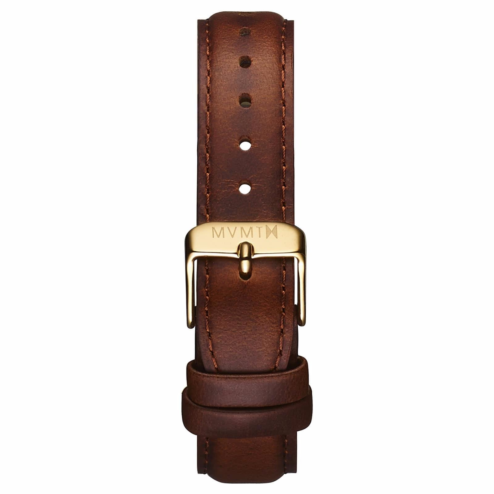 Womens - 18mm Brown Leather - gold