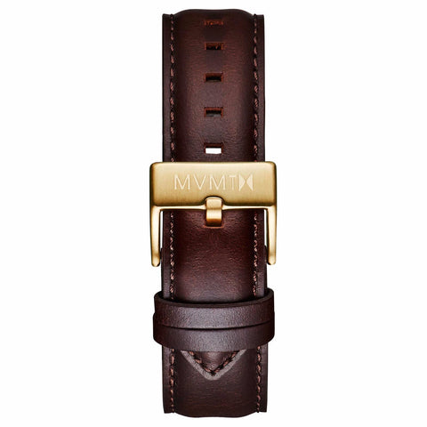 40 Series - 20mm Brown Leather gold
