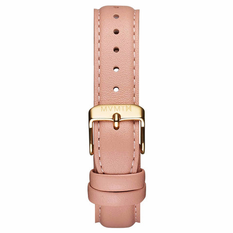Womens - 18mm Peach Leather gold