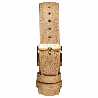Womens - 18mm Beige Leather gold
