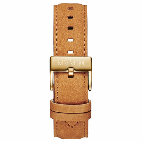 40 Series - 20mm Tan Leather gold