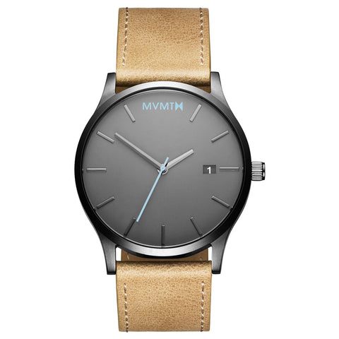 Classic Gunmetal/Sandstone Leather