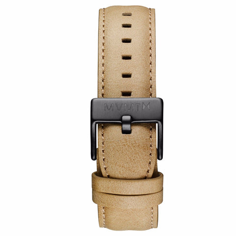 40 Series - 20mm Sandstone Leather gunmetal