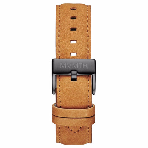 40 Series - 20mm Tan Leather gunmetal