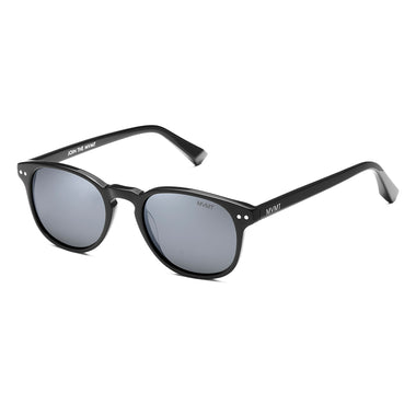 Hyde Polarized Pure Black/Silver Flash Lenses