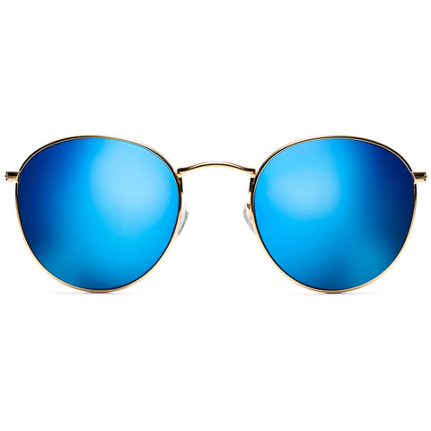 Icon Polarized Gold/Bondi Blue Mirror Lenses