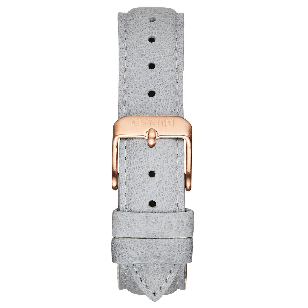 Boulevard - 18mm Light Grey Leather