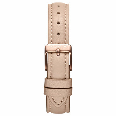 Nova - 16mm Nude Leather rose gold
