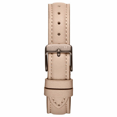 Nova - 16mm Nude Leather titanium