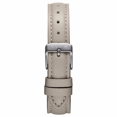 Nova - 16mm Taupe Leather silver