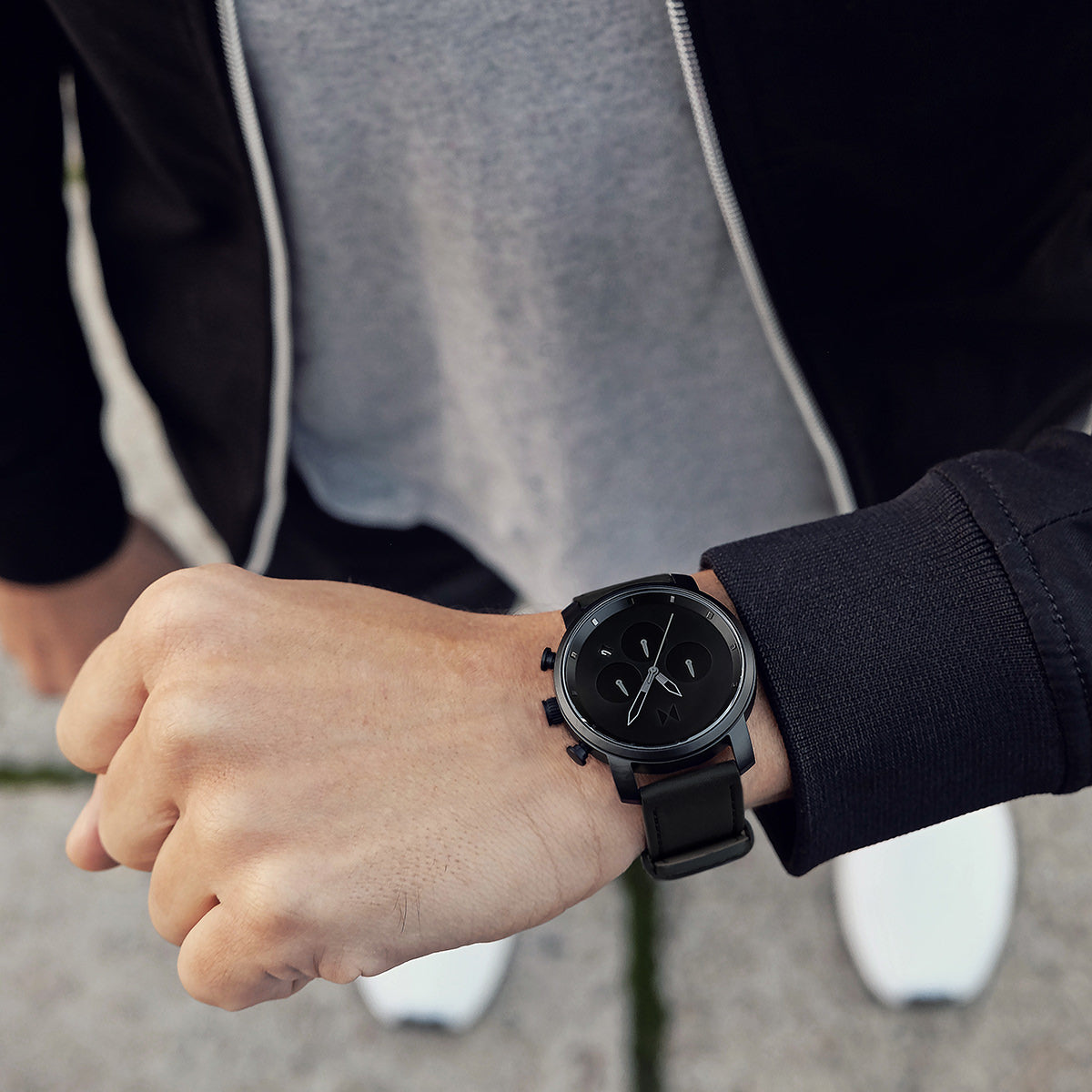 Chrono 40MM Black Leather