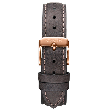 Signature II - 16mm Mauve Leather Rose Gold