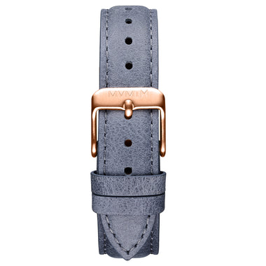 Signature II - 16mm Earl Grey Leather Rose Gold