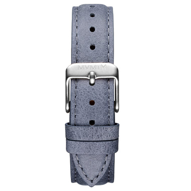 Signature II - 16mm Earl Grey Leather Silver