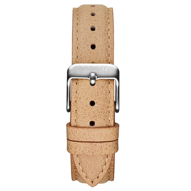 Signature II - 16mm Beige Leather Silver