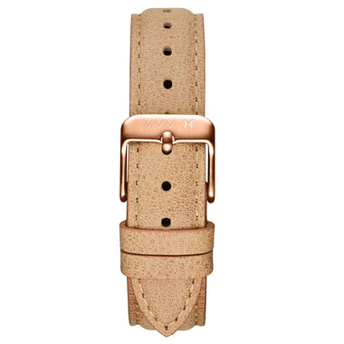 Signature II - 16mm Beige Leather Rose Gold