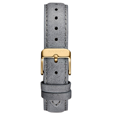 Signature Square - 16mm Sky Grey Leather Gold