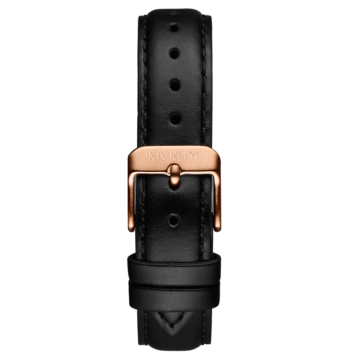 Signature Square - 16mm Black Leather