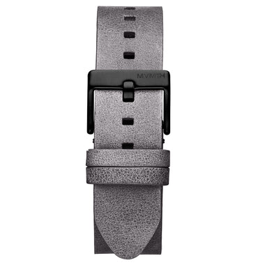 Rise - 20mm Grey Leather Black