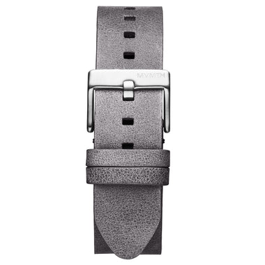 Rise - 20mm Grey Leather Silver