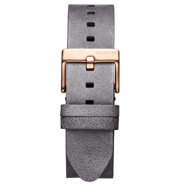 Rise - 20mm Grey Leather Rose Gold