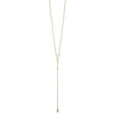 Prism Lariat Necklace Gold