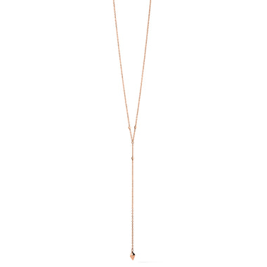 Prism Lariat Necklace Rose Gold
