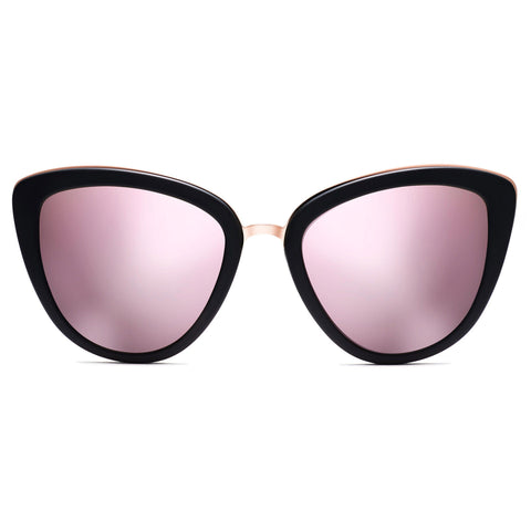 Marquee Polarized Matte Black/Rose Mirror Lenses