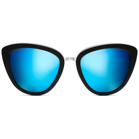 Marquee Matte Black/Bondi Blue Mirror Lenses
