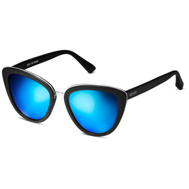 Marquee Polarized Matte Black/Bondi Blue Mirror Lenses