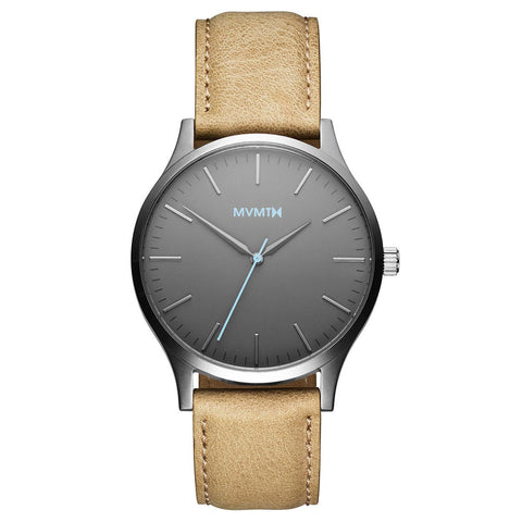 The 40 - Gunmetal/Sandstone Leather