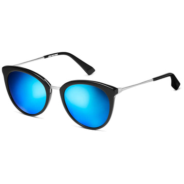 Muse Pure Black/Bondi Blue Mirror Lenses