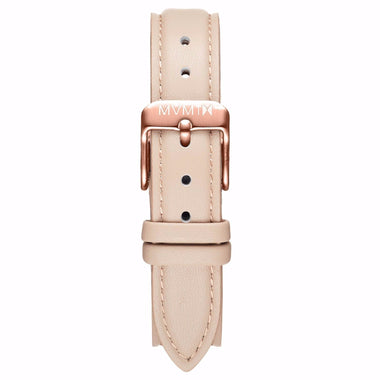 Avenue - 14mm Nude Leather Rose Gold