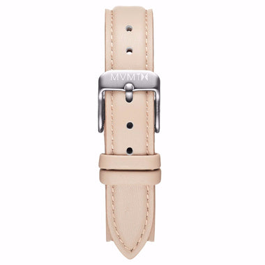 Avenue - 14mm Nude Leather Silver