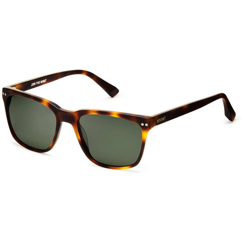 hover_Matte Whiskey Tortoise/Dark Green Lenses
