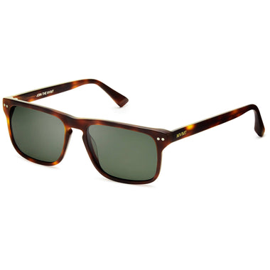 Reveler Polarized Matte Whiskey Tortoise/Dark Green Lenses