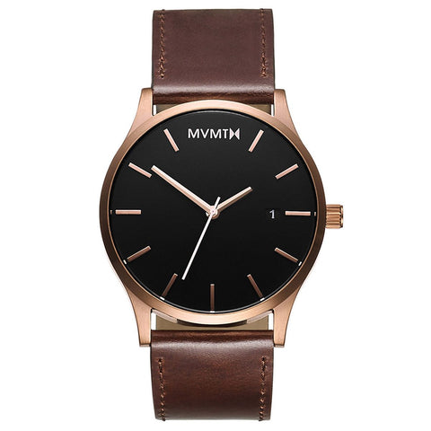 Classic Rose Gold/Brown Leather