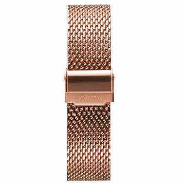 Chrono - 20mm Mesh Band Rose Gold