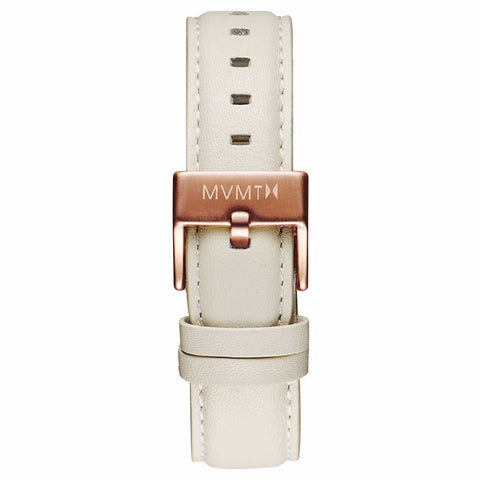 Boulevard - 18mm Cream Leather rose gold