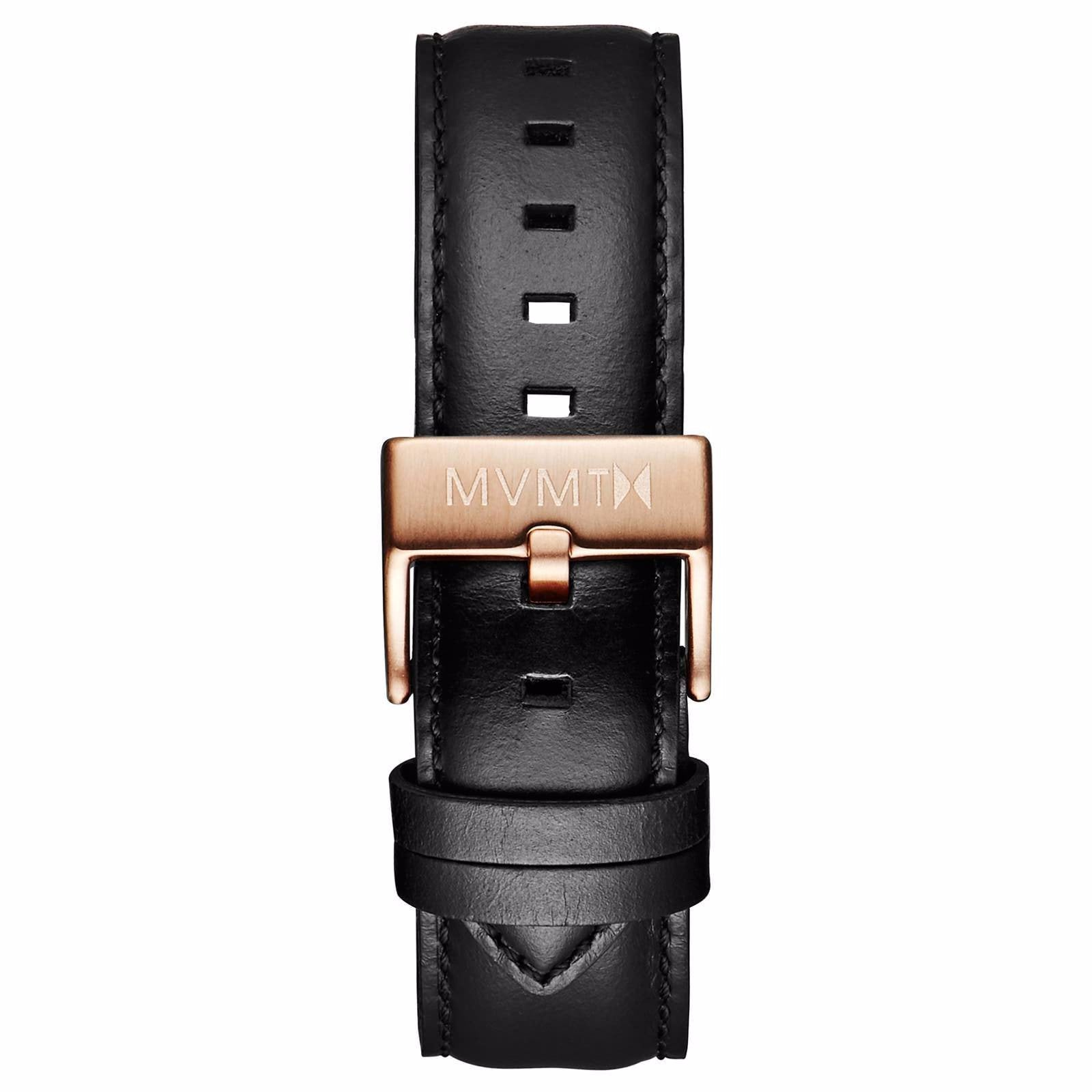 40 Series - 20mm Black Leather - rose gold
