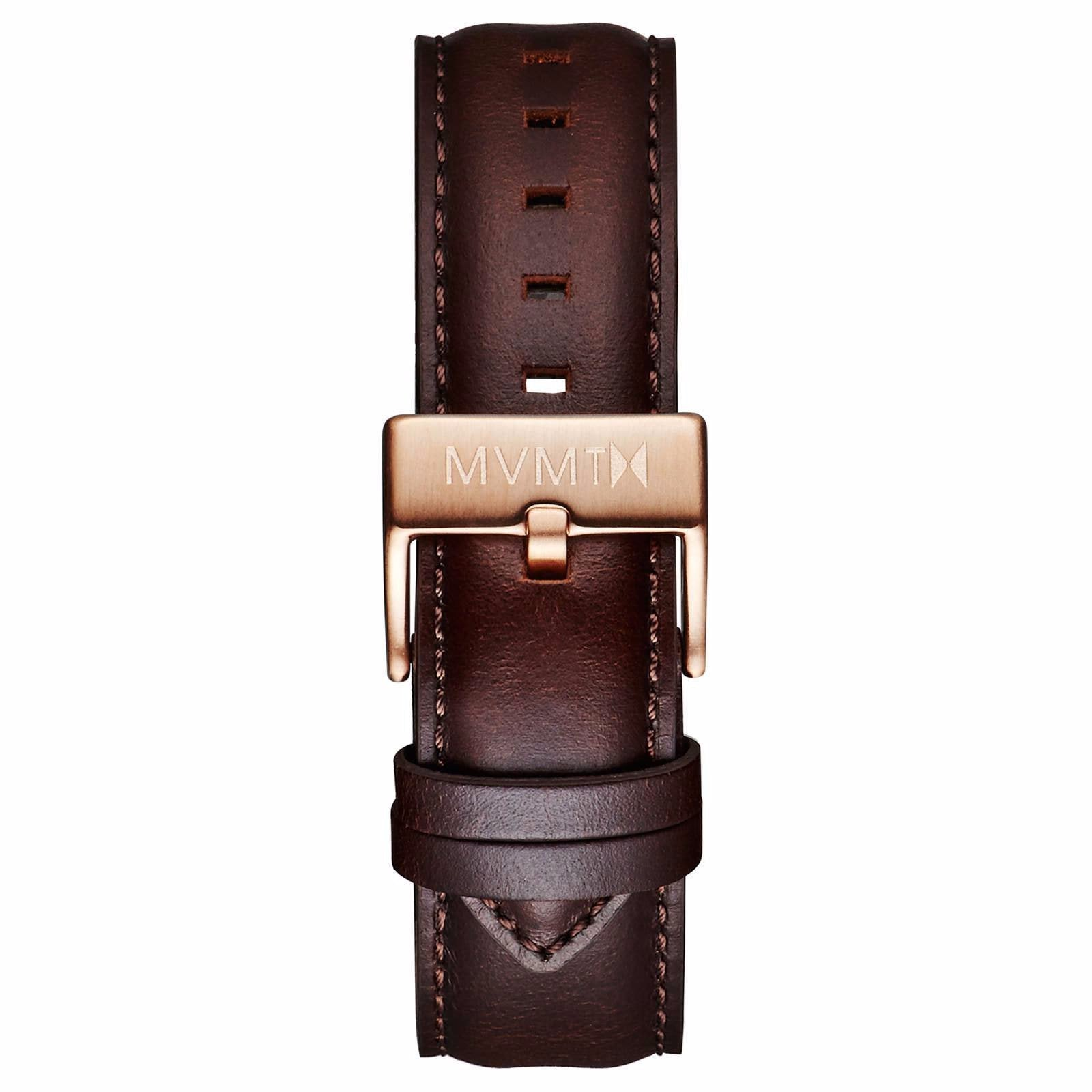 40 Series - 20mm Brown Leather - rose gold