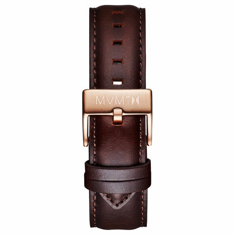 40 Series - 20mm Brown Leather rose gold