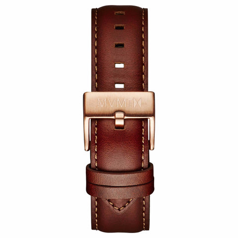 40 Series - 20mm Natural Leather rose gold