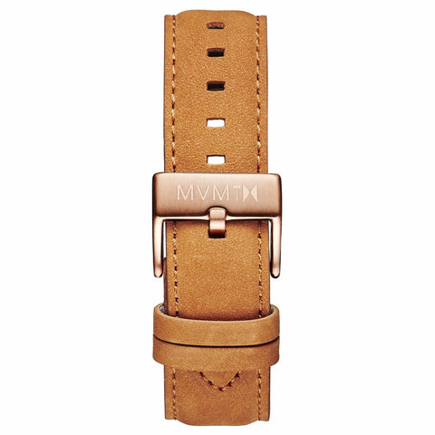 40 Series - 20mm Tan Leather rose gold