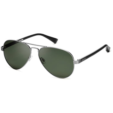 Runaway Polarized Brushed Silver/Dark Green Lenses