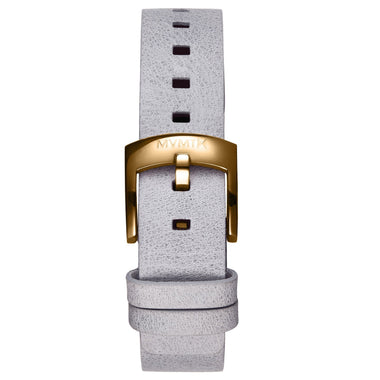 Bloom - 16mm Grey Leather gold
