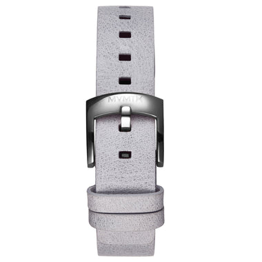 Bloom - 16mm Grey Leather silver