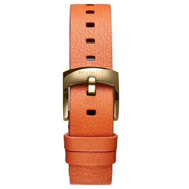 Bloom - 16mm Orange Leather gold