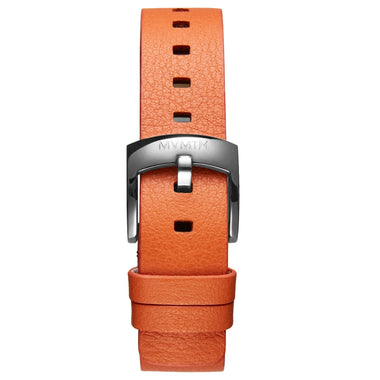 Bloom - 16mm Orange Leather silver